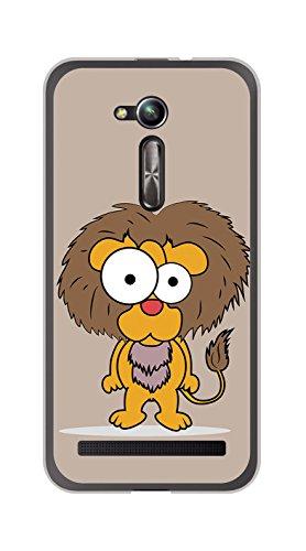 Tumundosmartphone Funda Gel TPU para ASUS ZENFONE GO 5' (ZB500KL) diseño Leon Dibujos