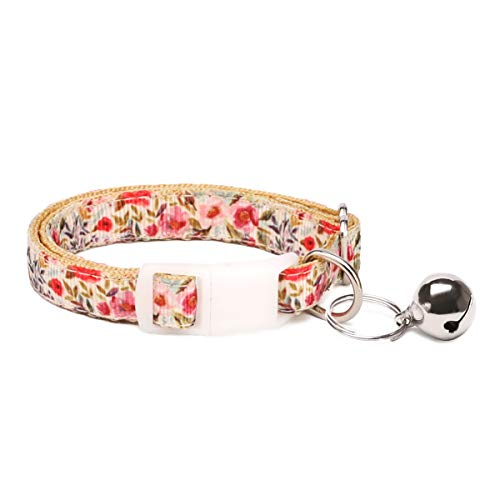 waaag Artículos para mascotas, (flores de verano), collar para gatos, correa para perros, correa para gatos, arnés para perros (collares, XS)