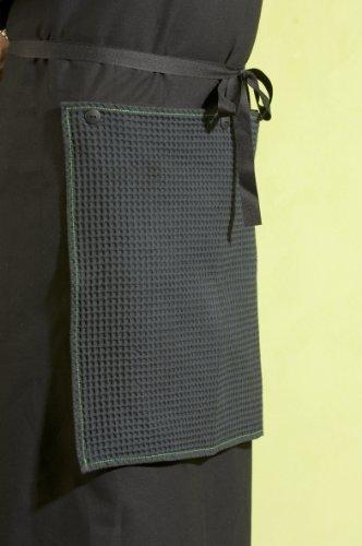 Point-Virgule PVB-BBQ-0149 Tablier avec Torchon Noir
