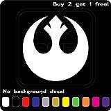 Rebel Alliance Star Wars Logo Vinyl Jedi - Sticker Graphic - Auto, Wall, Laptop, Cell, Truck Sticker for Windows, Cars, Trucks