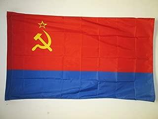AZ FLAG Ukrainian Soviet Socialist Republic Flag 3' x 5' for a Pole - Soviet Ukraine SSR Flags 90 x 150 cm - Banner 3x5 ft with Hole