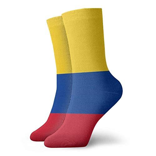 NCH UWDF Calcetines para Hombres y Mujeres: Bandera de Colombia con águila Calva, Coloridos, Divertidos y novedosos Calcetines de tripulación