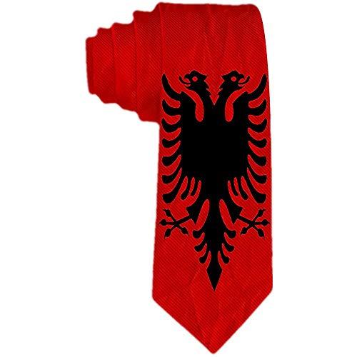 Mens Albanien Papier Flagge Krawatten Krawatte formale Partei Anzug einzigartiges Geschenk Krawatten