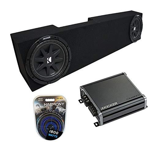 Compatible with 2006-2015 Dodge Ram Mega Cab Kicker Bundle Comp C10 Dual 10 Sub Box & CXA800.1 Amp