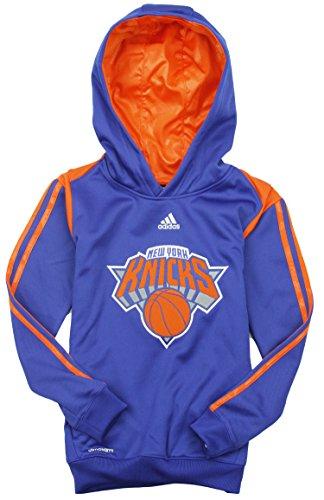 Adidas New York Knicks NBA - Sudadera con capucha para niños, color azul, X-Large (18/20) US, Azul