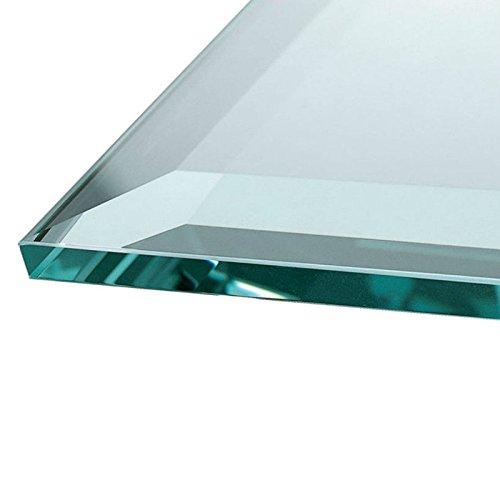 Euro Tische Glasplatte für Kaminofen - Glasscheibe mit 6mm ESG Sicherheitsglas - perfekt geeignet als Funkenschutzplatte - Verschiedene Größen (115x65cm, Klarglas)