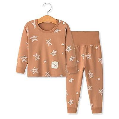 YANWANG 100% Organic Cotton Baby Boys Girls Pajamas Set Long Sleeve Sleepwear(3M-5T) (Tag65/3-4T, Pattern 6)