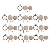 Homehome 10 unids/set de madera mini joyería punto de cruz marco fijo redondo bordado de madera kit de costura aro anillo colgante marco hecho a mano herramienta de bricolaje