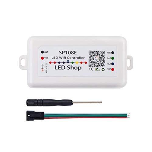 Summerwindy SP108E Drahtloser Controller APP WS2811 WS2812B WS2801 SK6812 APA102 Individuell Adressierbares Programmierbares LED Streifen Modul Panel Licht Dc5V-24V