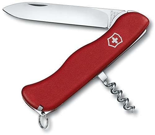 Victorinox Taschenmesser Alpineer (5 Funktionen, Festellklinge, Zahnstocher) rot