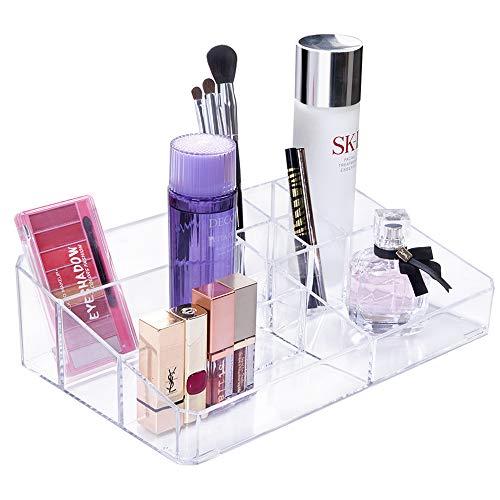 Gospire Kosmetik Organizer 9 Fächer Aufbewahrungsbox für Kosmetik, Schmuck, Lippenstift, Nagellack, Make Up Pinsel Aufbewahrung Kosmetik Halter Schminkaufbewahrung für Schlafzimmer, Bad
