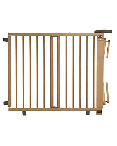 Geuther, Treppenschutzgitter für Baby Kinder und Hund Absperrgitter Treppen zum klemmen und bohren, natur, 67 - 107 cm