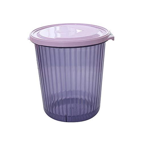 Papelera para el hogar resistente a los roturas, translúcida, para baño, cocina, baño, basura, protección del medio ambiente, material de polipropileno, gravedad fuerte, color azul, morado
