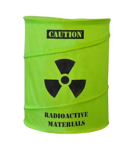 Toxic Laundry Cesto para la Ropa Sucia (50 L) con Diseno Divertido, Verde