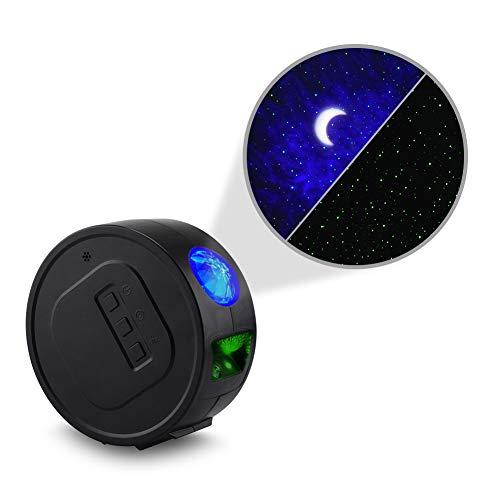 YIKANWEN Sternenhimmel-Projektor, Mond Nebel Wolken Projektor, Sternenprojektor für Kinder Schlafzimmer Dekoration oder Camping (akkubetrieben), schwarz