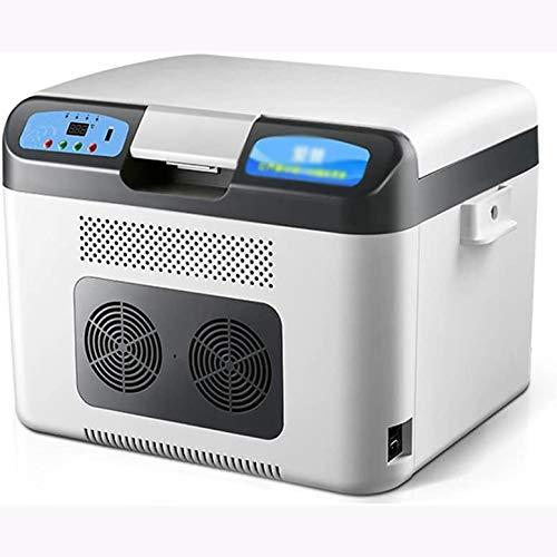 Rindasr Mini-koelkast, 26 liter, grote capaciteit, digitaal display, vrieskast, koelkast voor kleine huishoudens, koude- en warmte-isolatie, dual core 12 V-220 V
