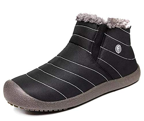 Botas de Nieve Hombre Mujer Botas de Invierno Cortas Fur Aire Libre Boots Botines Niños Invierno Botines Ante Anti-Deslizante Zapatos Calentar Botas, Zapatos de algodón para Padres e Hijos EU 28-48