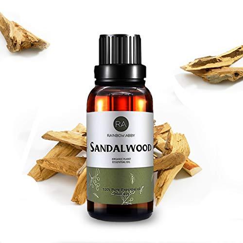 Aceite Esencial de Sándalo (30 ML), Aceite de Sándalo de Aromaterapia Natural 100% Puro Para Difusor