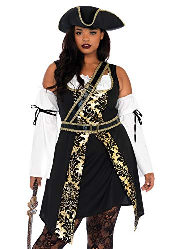 Leg Avenue Women s Costume, Black Gold, 3X-4X