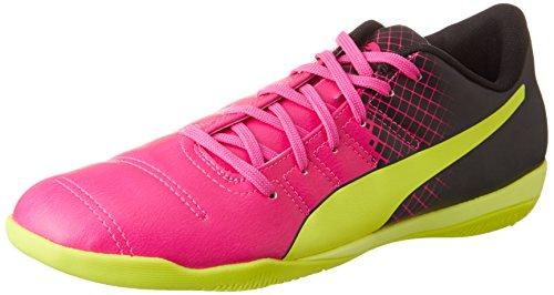 PUMA Herren EVO Power 4.3 IT 103587 Hallenschuhe, Pink (pink glo-Safety Yellow-Black 01), 46 EU