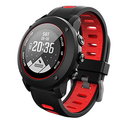 LEVEL GREATOutdoor-Sport Watch GPS-Sport-Armbanduhr GPS-Sportarmbanduhr IP68 wasserdichte Schwimmen Fitness Tracker Herzfrequenz Watch