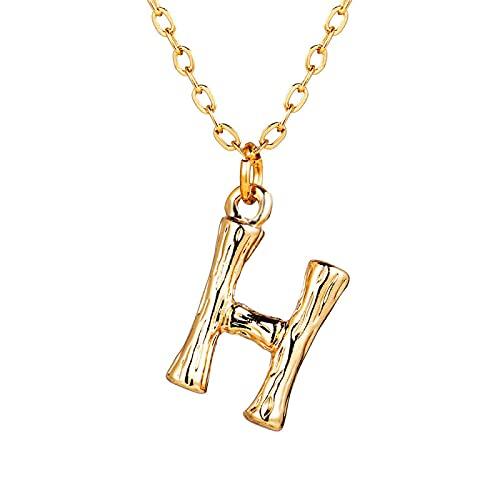 Collar Joyas Moda Lindo Minimalista Collares con Letras Iniciales para Mujeres Vintage AZ Carta Colgante Collar Cadena De Oro Gargantillas Joyería per
