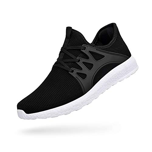 ZOCAVIA Mens Running Tennis Work Shoes Slip On Resistant Sneakers Lightweight Breathable Athletic...