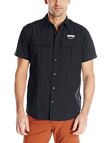 Columbia Cascade Explorer Camisa de Manga Corta, Hombre, Grey, M
