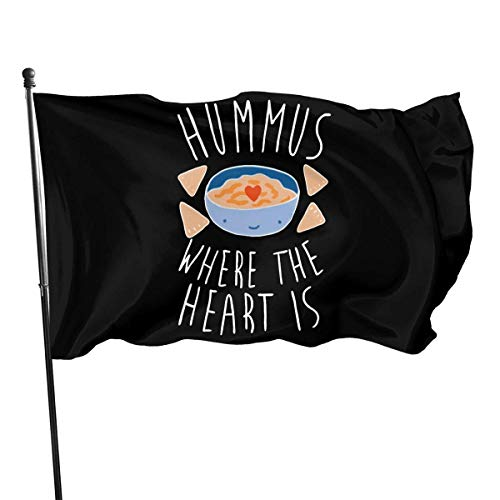 JDQP Flagge Hummus Where The Heart is 150cm90cm Equipment Fashion Excellent Outdoor Flag 3X5ft