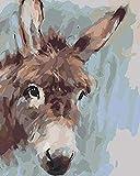 Pintura 丨 Burro Animal 丨 Pintura digital infantil Pintada a mano Regalos creativos