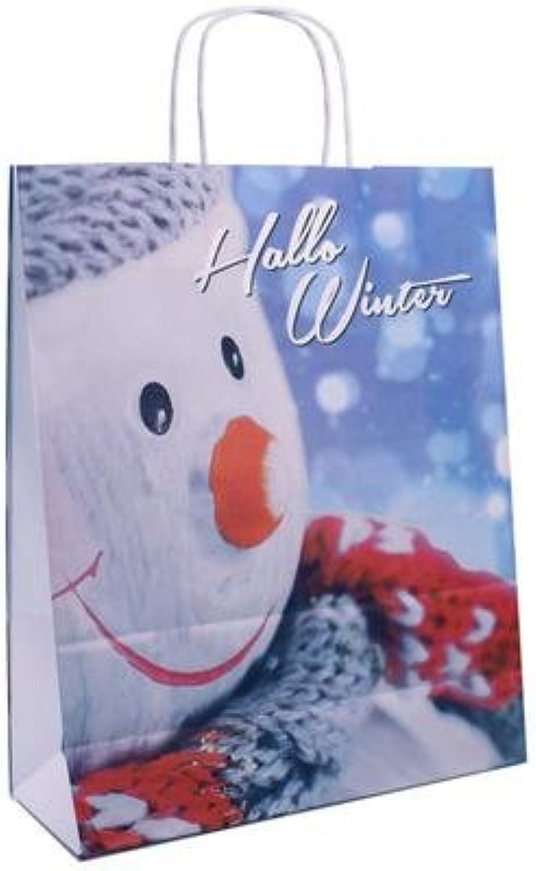 150 Weihnachtstragetaschen mit Motiv  Hallo Winter  3213x40,5cm Tragetaschen Beutel Tüten B01M9A6YNR | Verschiedene Stile und Stile