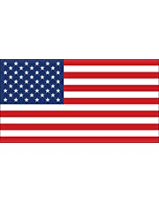 Official Size American Flag Sticker (America us USA Stars Stripes Patriotic Patriot)