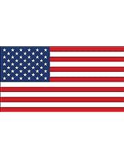 المقاس الرسمي ملصق العلم الأمريكي (أمريكا الولايات المتحدة الأمريكية نجوم المشارب الوطنية الوطني)