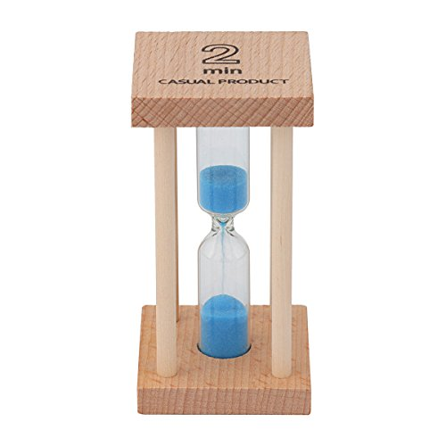 Mehrfarbige Sanduhr aus Holz für Heim und Schule. 2min blau