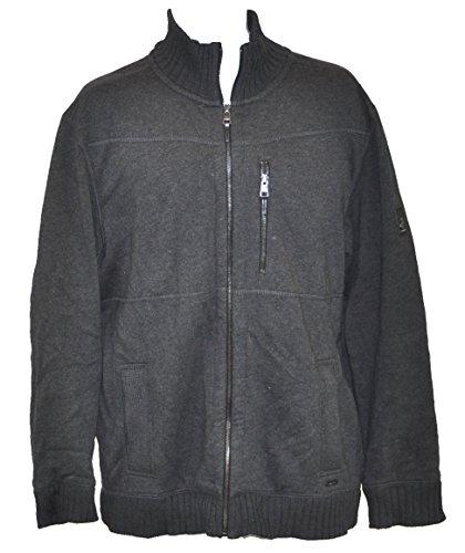 Calvin Klein Men's Lifestyle Sportswear Full Zip Sweater Jacket (Medium, Decode Heather)