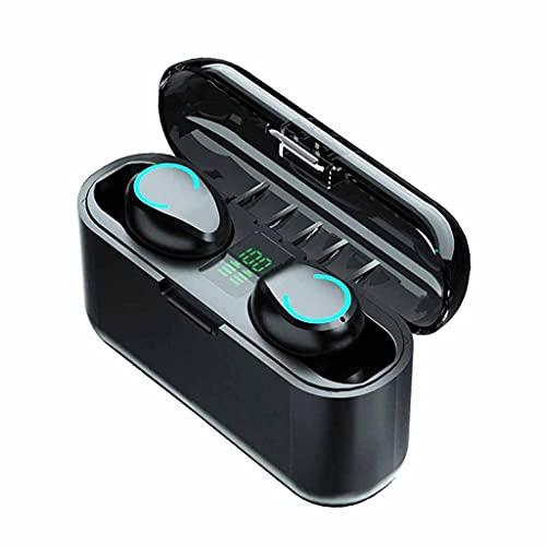 SMEJS Inalámbrico Bluetooth 5.0 Auricular TWS HiFi Mini en Oreja Deportes Deportes Auriculares Soporte Teléfonos HD Llamada Auriculares (Color : A)