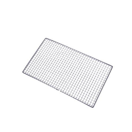 POHOVE Filet de cuisson en carbone pour barbecue, grille de cuisson, grille de barbecue en acier inoxydable, 25 x 40 cm, 30 x 45 cm, 38 x 50 cm pour pique-nique en plein air, barbecue