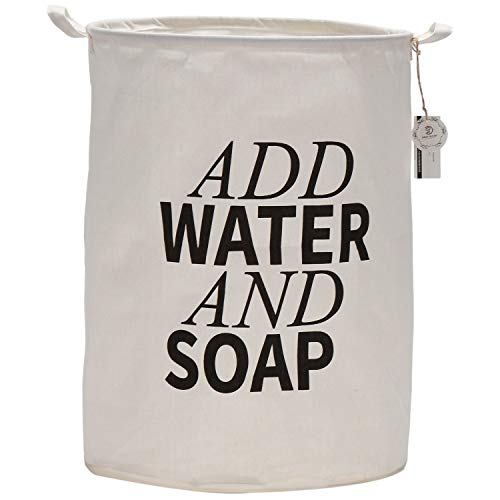 YZHM de mar 19.7'Recubrimiento Impermeable Plegable de Gran tamaño Ramie Tela de algodón de la lavandería Cubierta Cubierta Cubierta Cilindráica Burlap Canasta Bolsa Bolsa # 1