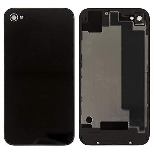 Carcasa Tapa trasera de batería de repuesto compatible con iPhone 4S, (negro,...