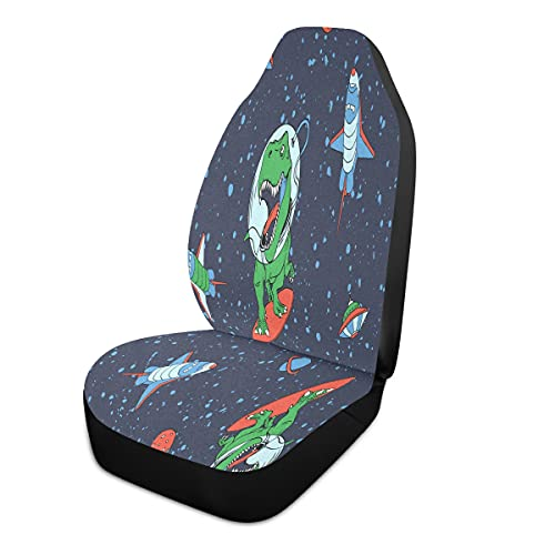 BOLOL Galaxy Astronaut Dinosaur Car Front Seat Cover Vehicle Seat...
