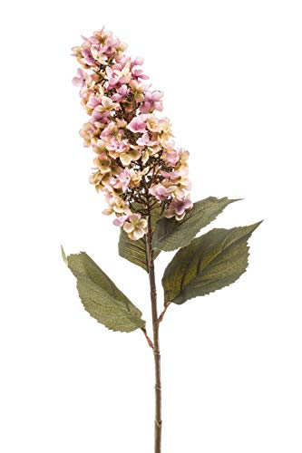 artplants.de Hortensia paniculata Artificial MORUELA, Rosa-Verde, 95cm - Hortensia Decorativa - Flor de plástico