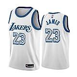 QPY James Jersey Camiseta sin mangas para adulto, camiseta de baloncesto 2021 Laker City Edition (S-XXL) XXL