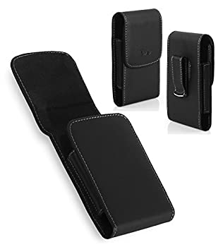 LG Tribute HD Case TMAN Premium Vertical Leather Pouch Carrying Case with Belt Clip Belt Loops Holster for LG Tribute HD  Fits with Otterbox Lifeproof Waterproof Battery Case and Armor Cases