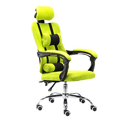 Gaming Stuhl | Gaming Stuhl Stoff Komfort |Gaming Chair FüR Gamer |Racing Stuhl BüRostuhl |Schreibtischstuhl Mit Optimaler Ergonomie FüR Langes Sitzen (Grün)