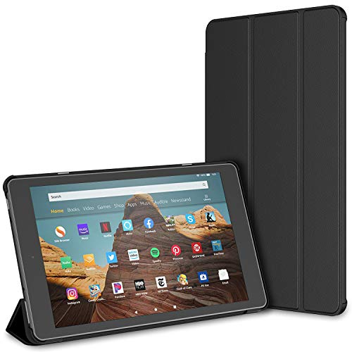 JETech Case for Amazon Fire HD 10 Tablet 10.1' (7th / 9th Generation, 2017 Release / 2019 Release) Smart Cover with Auto Sleep/Wake (Black)