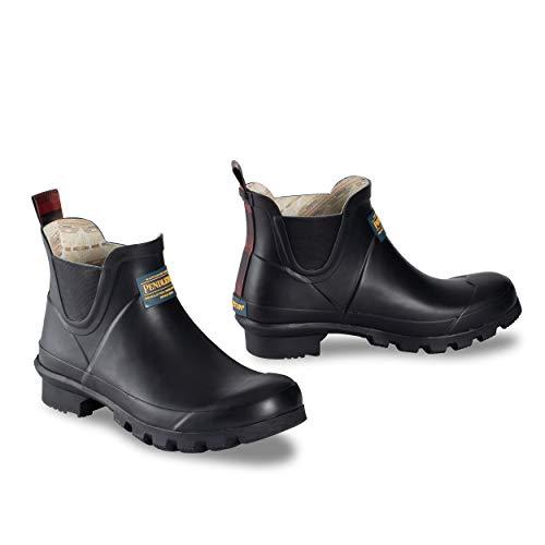 Pendleton Women's Classic Chelsea Ankle Length Slip-Resistant Rain Boot, Black, Size 6