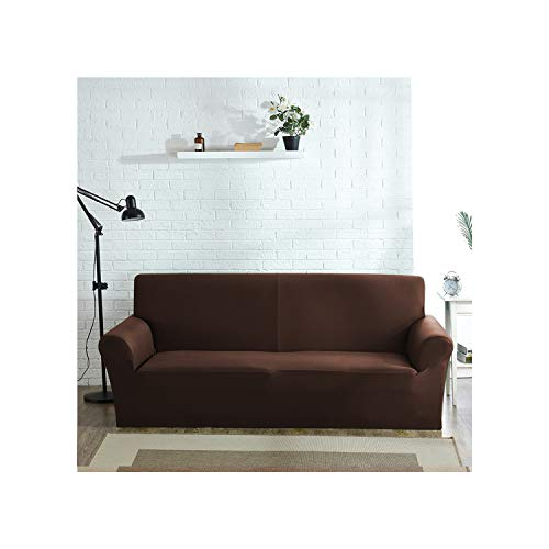 Cheryl Norri Cover For Sofa Furniture Armchair Modern Living Room Sofa Cover Stretch Elastic Slipcover Cotton 1/2/3/4 Seater,Coffee,2Seater 145-185Cm
