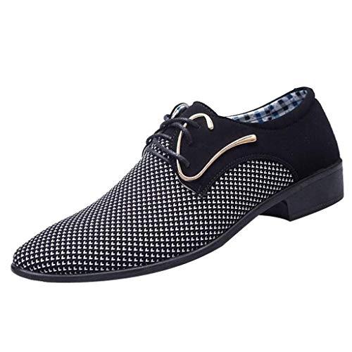 CixNy Herren Anzugschuhe Oxford, Lederschuhe Derby Business Casual Schuhe England Tuch Loafers...