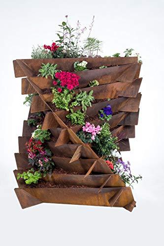 URBANGA Hochbeet Ackerwinde aus Metall für Garten, Balkon, Terrasse / Bausatz aus Cortenstahl, Baustahl & Edelstahl (Cortenstahl, Large)