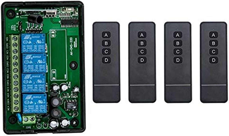 AC85v250V 110V 220V 230V 4CH Wireless RF Remote Control Switch Transmitter+Receiver Appliances Gate Garage Door Window lamp  (color  D)